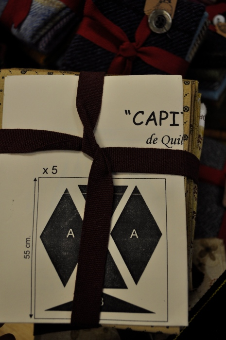 paquet de cotons ainsi que patron pour réalisation d'un couvre lit